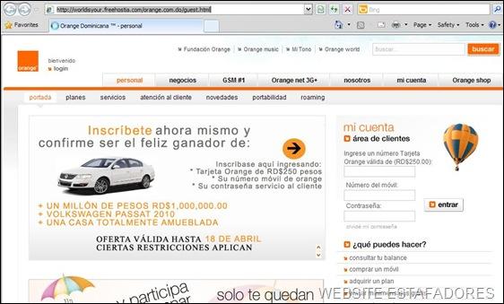 Orange_phishingWEB