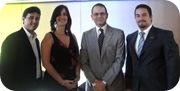 Raymond Marcelino, Ana Patricia Mejía, Carlos Chahín y Aglisberto Gonzalez