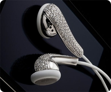 Amosu_Apple_Swarovski_Diamond_Crystal_Earphones_Luxurious_