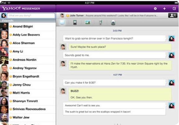 Yahoo para el iPad 2