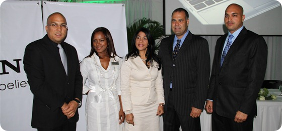Eligio Rodriguez, Kenia Hernandez, Grisel Martinez, Alvin Jimenez y Domingo Polanco