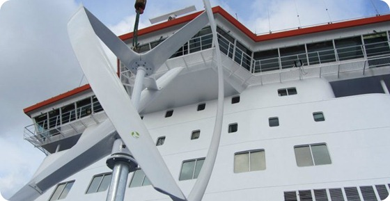 Ferry wind power turbine 2