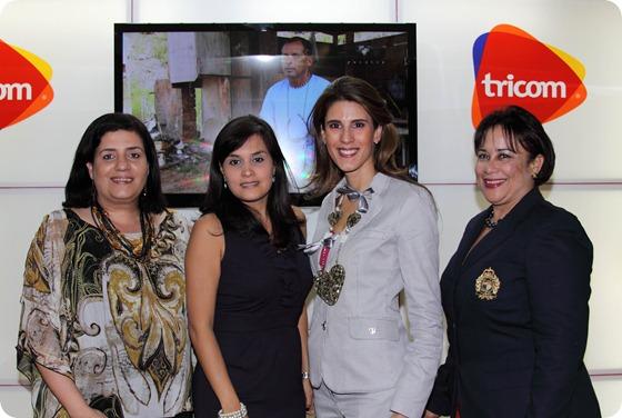 Desiree Logroño, Liza Arzeno, Wilda Gutiérrez y Carlixta Apolinar