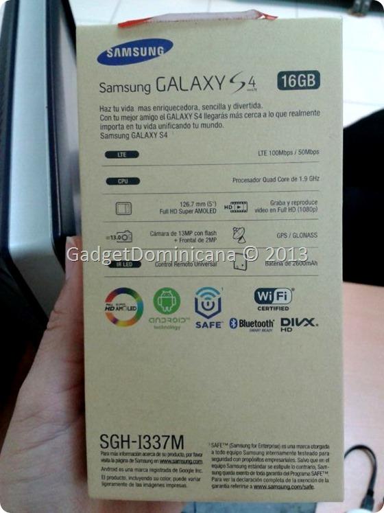 Galaxy S4 4GLTE en CLARO Dominicana