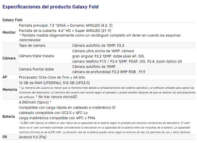 galaxyFcaracteristicas
