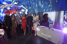 Ejecutivos de LG y Claro durante el lanzamiento de los nuevos productos LG, G8X ThinQ y televisores NanoCell K4
