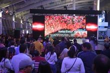 Publico asistente al lanzamiento de la serie televisores LG Nanocell 4K al mercado dominicano