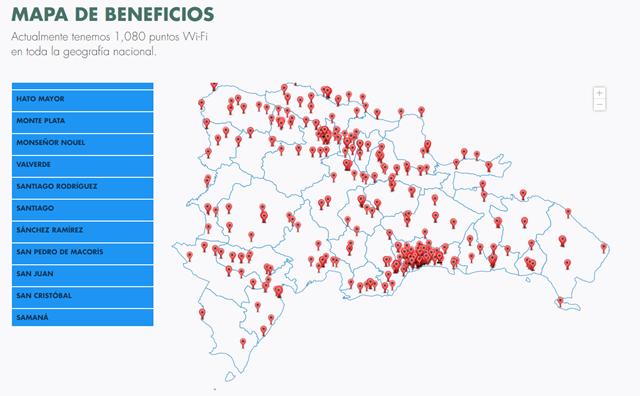 Internet Wifi gratis en República Dominicana